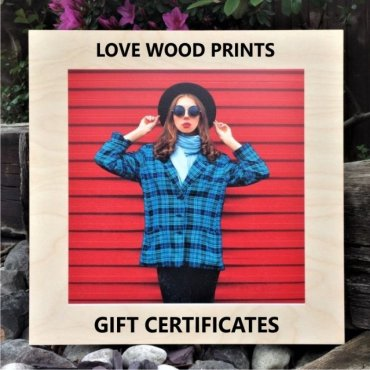 Wood Print Gift Certificates