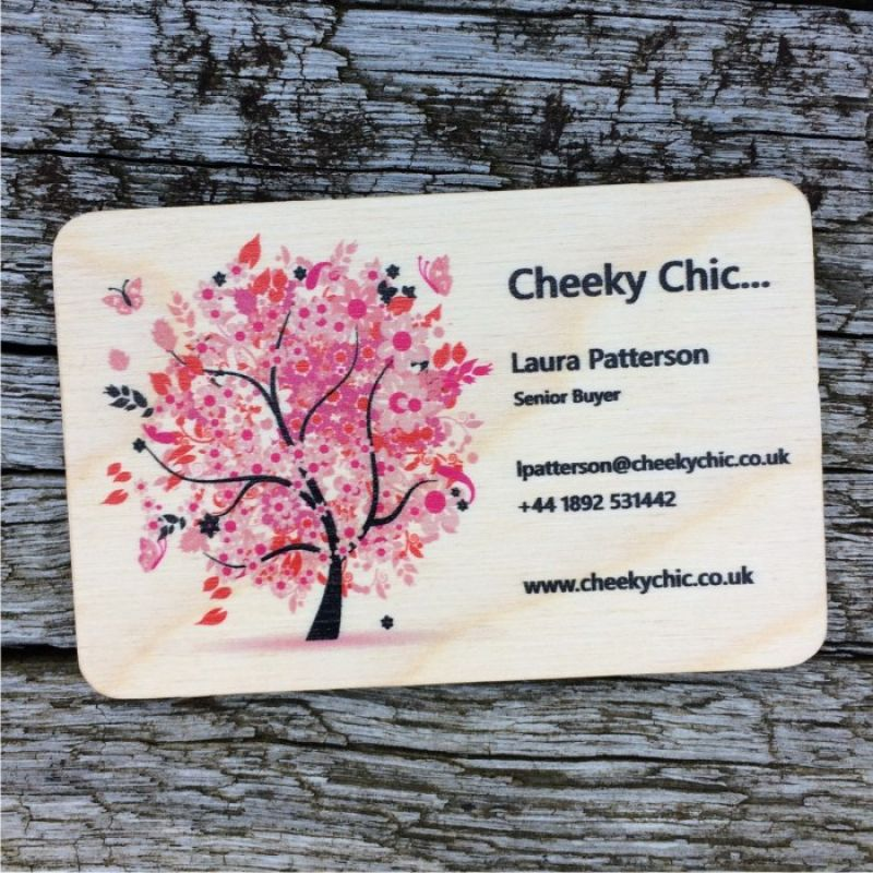 Wooden business cards photo printing on wood wood business cards qty 500 reheart Gallery